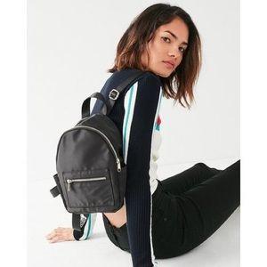 Black satin mini backpack